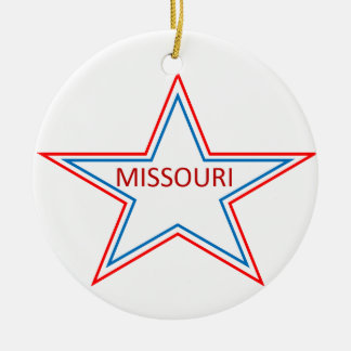 Missouri in a star. christmas ornament