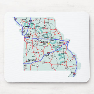 Missouri Interstate Map Mousepad