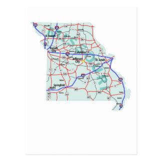 Missouri Interstate Map Postcard