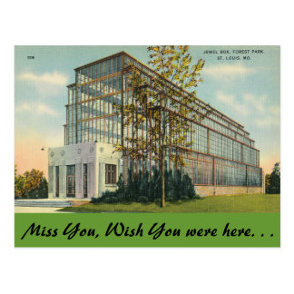 Missouri, Jewel Box, Forest Park Postcard
