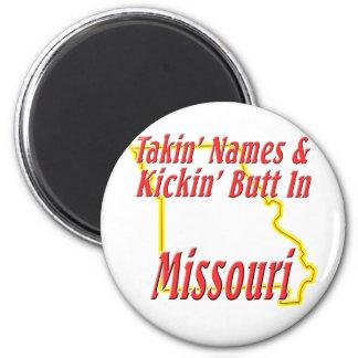 Missouri - Kickin' Butt 2 Inch Round Magnet