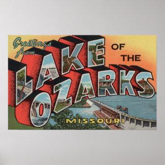 Missouri - lago del Ozarks Posters