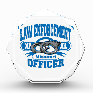 Missouri Law Enforcement Officer Handcuffs Acrylic Award