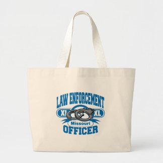 Missouri Law Enforcement Officer Handcuffs Jumbo Tote Bag