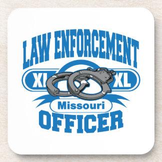 Missouri Law Enforcement Officer Handcuffs Beverage Coaster