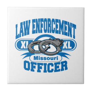 Missouri Law Enforcement Officer Handcuffs Ceramic Tile