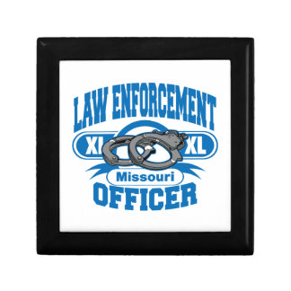 Missouri Law Enforcement Officer Handcuffs Keepsake Box