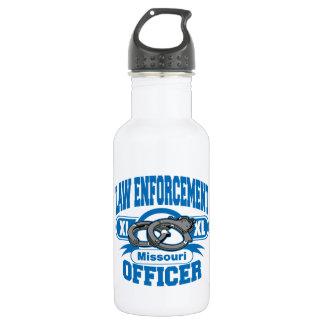 Missouri Law Enforcement Officer Handcuffs Stainless Steel Water Bottle