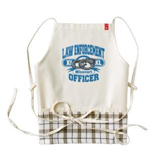 Missouri Law Enforcement Officer Handcuffs Zazzle HEART Apron
