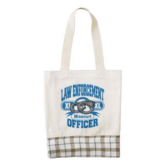 Missouri Law Enforcement Officer Handcuffs Zazzle HEART Tote Bag