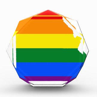 Missouri LGBT Flag Map Acrylic Award