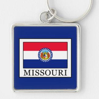 Missouri Llavero Cuadrado Plateado