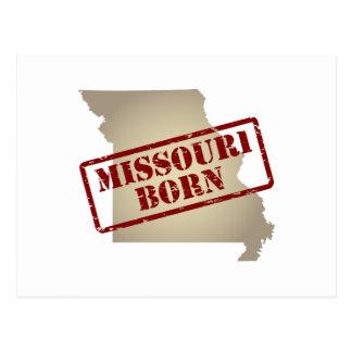 Missouri llevado - sello en mapa postal