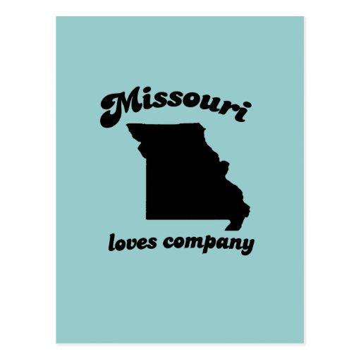 Missouri loves company postcard