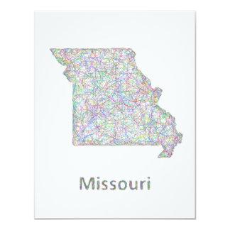 Missouri map card