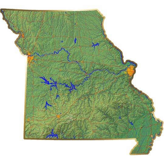 Missouri Map Magnet Cut Out