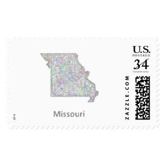 Missouri map postage