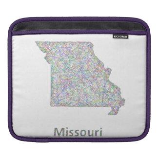 Missouri map sleeve for iPads
