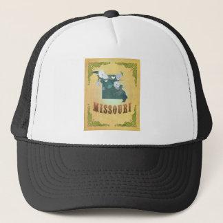 Missouri Map With Lovely Birds Trucker Hat