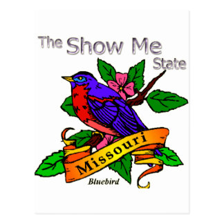 Missouri me muestra el Bluebird Postales