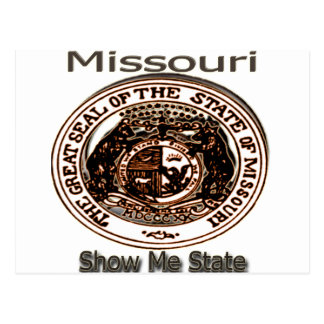 Missouri me muestra el sello del estado tarjetas postales
