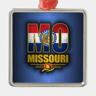 Missouri (MO) Adorno Cuadrado Plateado