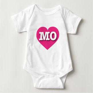 Missouri MO hot pink heart Baby Bodysuit
