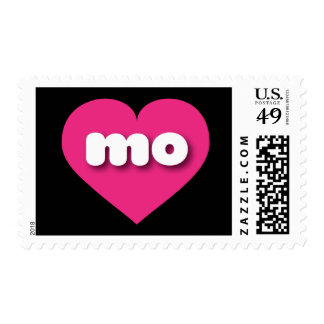 Missouri mo hot pink heart stamps