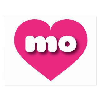Missouri mo hot pink heart postcard