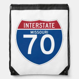 Missouri MO I-70 Interstate Highway Shield - Drawstring Backpack