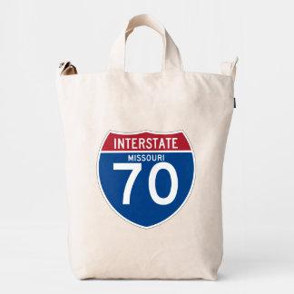 Missouri MO I-70 Interstate Highway Shield - Duck Bag