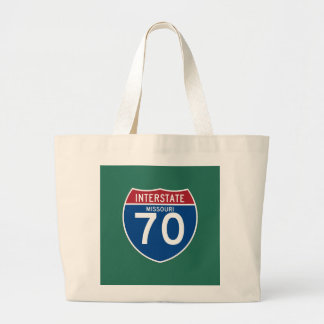 Missouri MO I-70 Interstate Highway Shield - Large Tote Bag