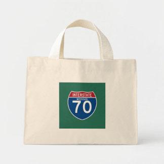 Missouri MO I-70 Interstate Highway Shield - Mini Tote Bag