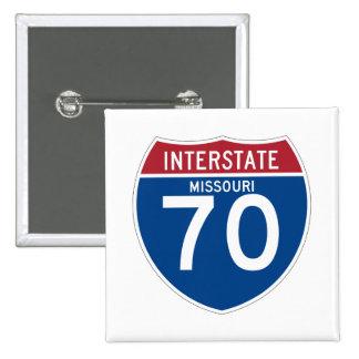 Missouri MO I-70 Interstate Highway Shield - Pinback Button