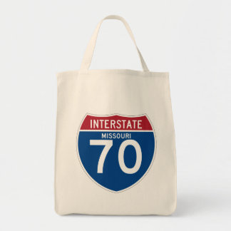 Missouri MO I-70 Interstate Highway Shield - Tote Bag