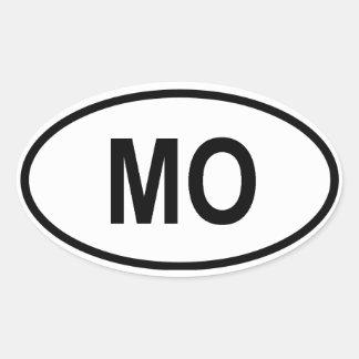"Missouri ""MO"" Oval Sticker"