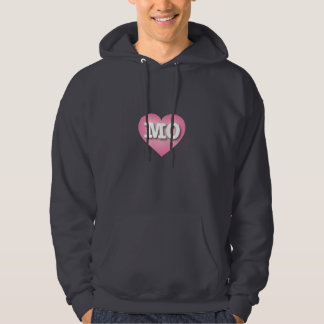 Missouri MO pink fade heart Hooded Pullover