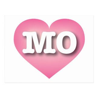 Missouri MO pink fade heart Postcard