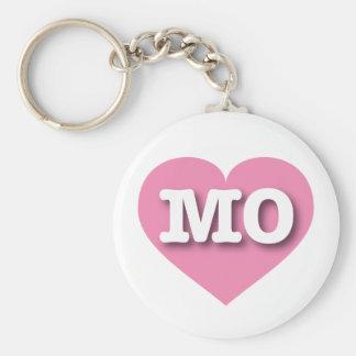 Missouri MO pink heart Keychain