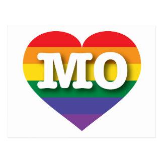 Missouri MO rainbow pride heart Postcard