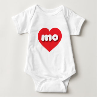 Missouri mo red heart baby bodysuit