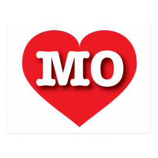 Missouri MO red heart Postcard