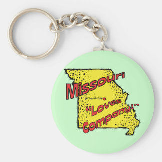 Missouri MO US Motto ~ Misery Loves Company Basic Round Button Keychain