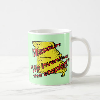 Missouri MO US Motto ~ We Invented The Stapler Classic White Coffee Mug