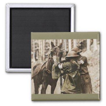 Missouri Mule in Gas Mask Magnet