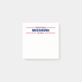 MISSOURI - My Home - United States; Hearts Post-it Notes