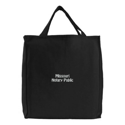 Missouri Notary Public Embroidered Bag