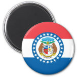 MIssouri Official State Flag 2 Inch Round Magnet