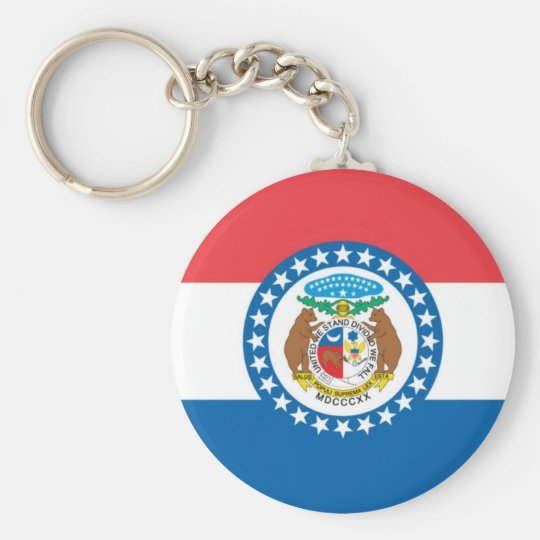 MIssouri Official State Flag Keychain