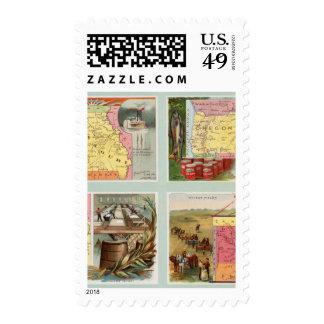 Missouri, Oregon, Iowa, North Dakota Postage Stamps